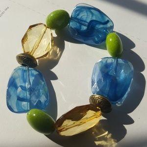 Smokey Blue 💙/ Crystal/& Stone Bracelet